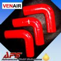 "90mm (3 1/2"") RED 90° Degree SILICONE ELBOW HOSE PIPE"
